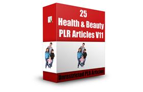 25 Health and Beauty PLR Articles V11