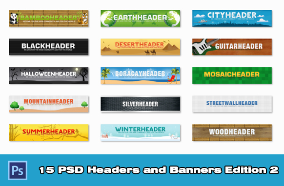 15 PSD Headers and Banners Edition 2