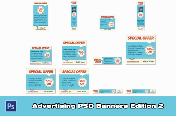 Advertising PSD Banners Edition 2