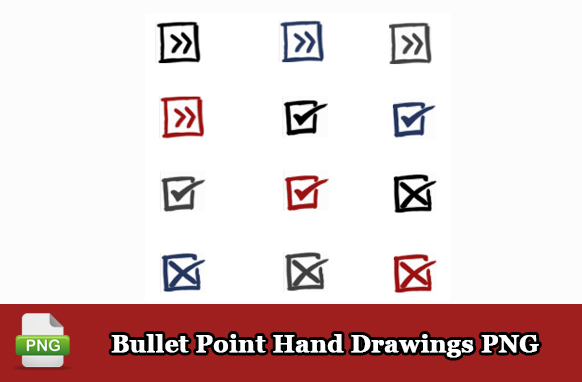 Bullet Point Hand Drawings PNG