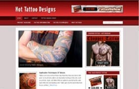 Hot Tattoo Designs Niche WP Theme