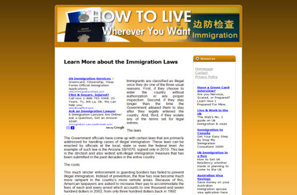 Immigration Web Template and WP Theme