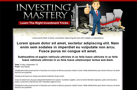 Investing Mastery HTML PSD Template