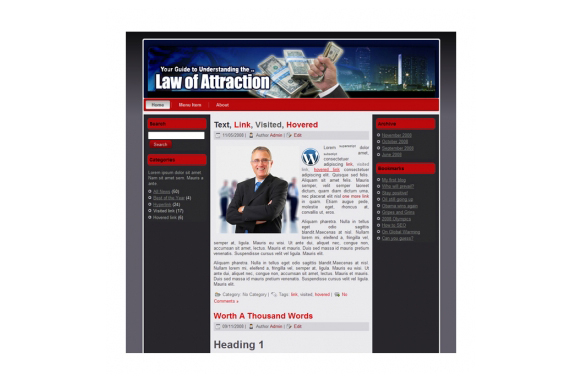 Law Attraction HTML and Wordpress Templates – PLR Database