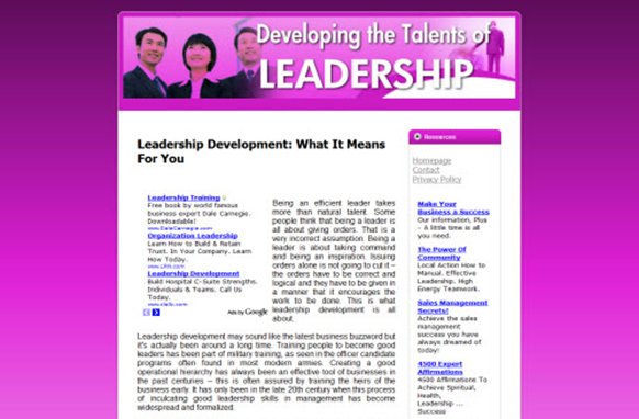 Leadership Web Template and WP Theme