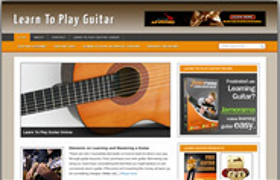 Learn Guitar Niche WP Theme