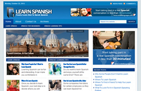 Learn Spanish WP Niche Theme