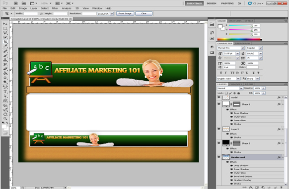 Affiliate Marketing 101 PSD Template Edition 1