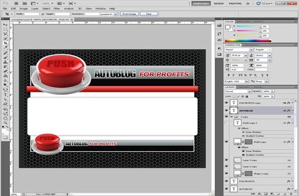 Auto Blog PSD Template Edition 1