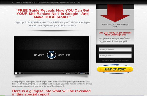 3 Unique HTML Squeeze Pages