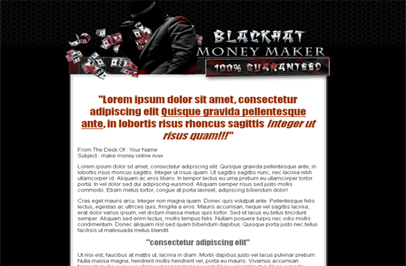 Black Hat Wordpress and PSD Theme