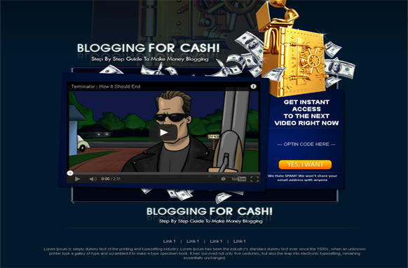 Blogging Wordpress Video Squeeze Page