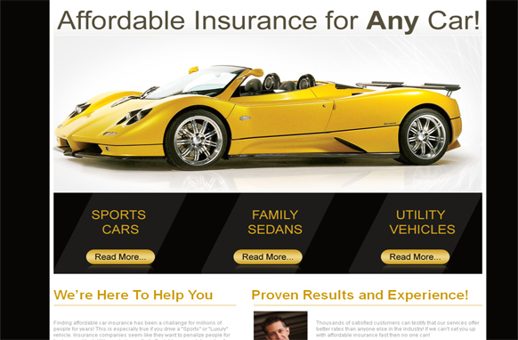 Car Insurance HTML and PSD Template