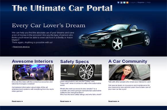 Car Portal HTML and PSD Template
