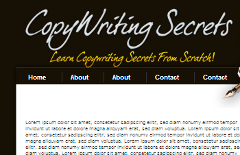 Copy Writing WordPress Default Theme