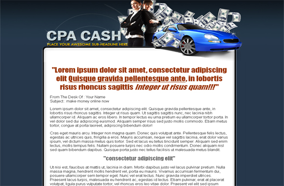 CPA Money WordPress and PSD Theme
