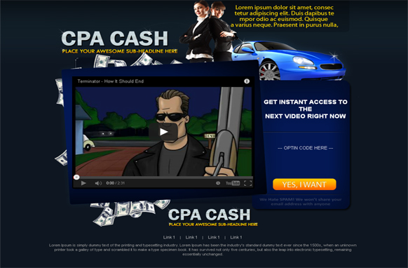 CPA Money WordPress Video Squeeze Page