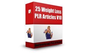 25 Weight Loss PLR Articles V10