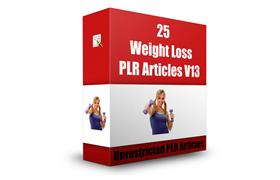 25 Weight Loss PLR Articles V13