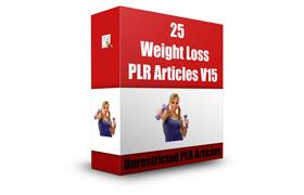 25 Weight Loss PLR Articles V15