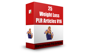 25 Weight Loss PLR Articles V16