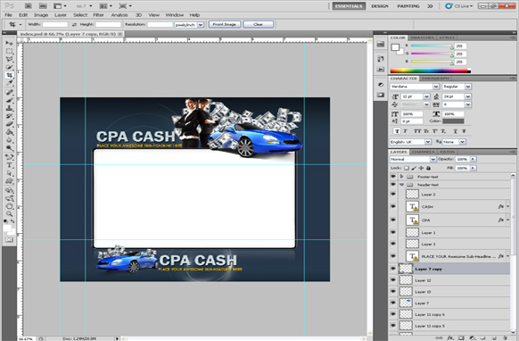 CPA Money PSD Minisite Template
