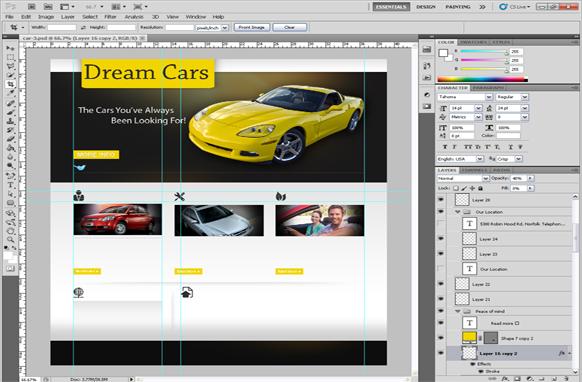Dream Cars PSD Template