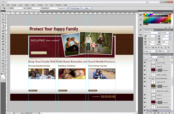 Family PSD Template Edition 3