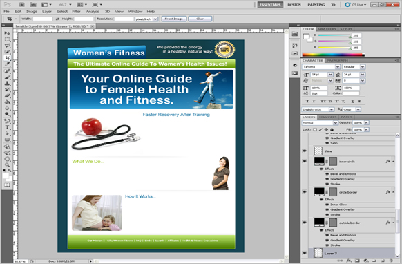 Female Health PSD Template
