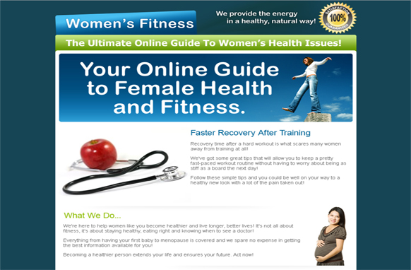 Female Health HTML and PSD Template