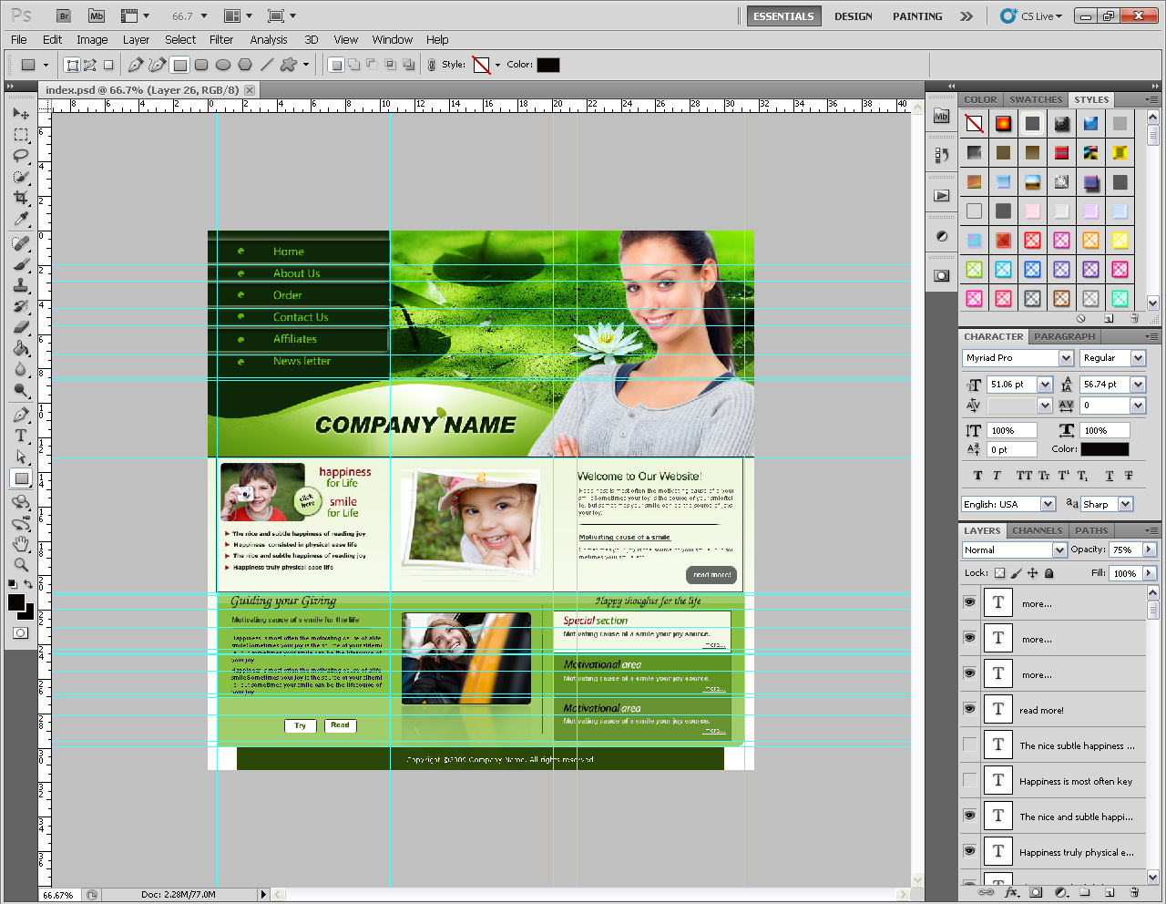 Happiness Agents PSD Template