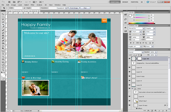 Happy Family PSD Template Edition 2
