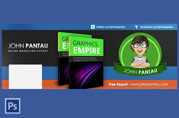 FB Page Cover In PSD Style 2