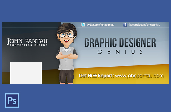 FB Page Cover In PSD Style 3