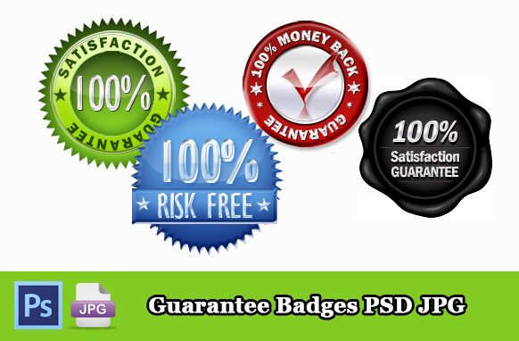 Guarantee Badges PSD JPG