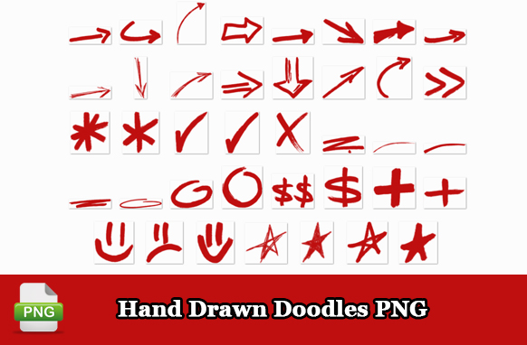 Hand Drawn Doodles PNG