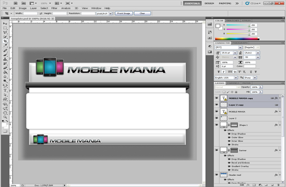 Mobile Mania PSD Template
