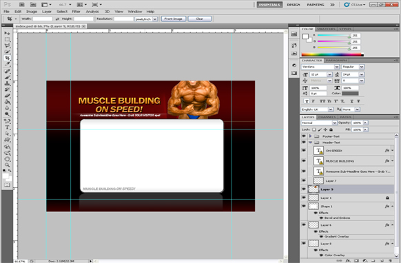 Muscle Building PSD Minisite Template