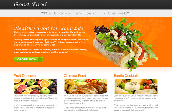Good Food HTML and PSD Template