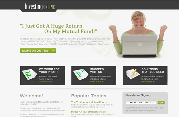 Investing Online HTML and PSD Template