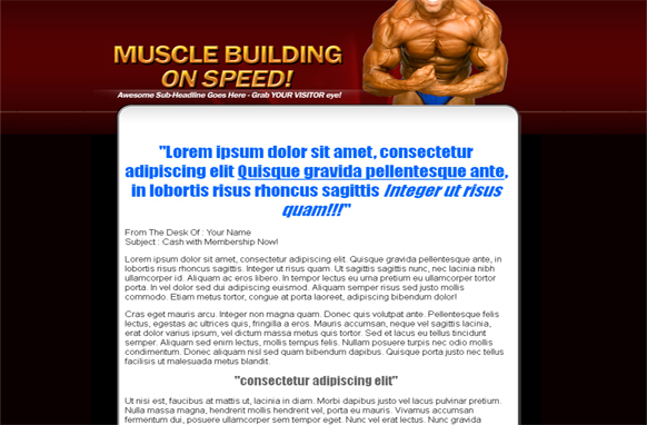 Muscle Building Wordpress and PSD Theme