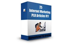 25 Internet Marketing PLR Articles V17