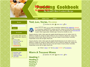 Pudding Cookbook WP Theme
