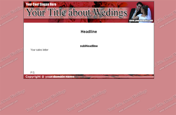 Weddings HTML Website Template Edition 3