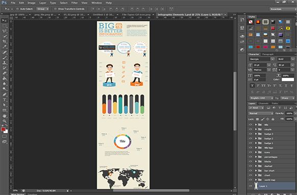 Infographic Elements PSD Edition 1