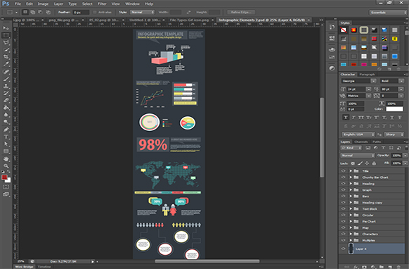 Infographic Elements PSD Edition 2