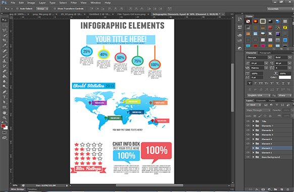 Infographic Elements PSD Edition 4