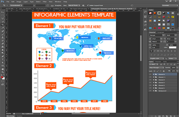 Infographic Elements PSD Edition 5