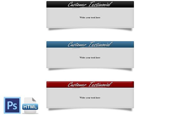 HTML PSD Testimonial Boxes Style 1