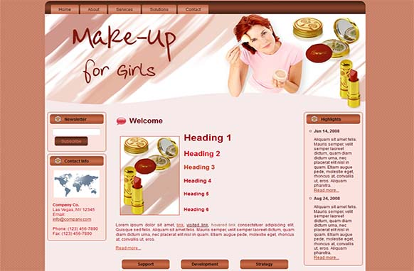 Makeup WP Theme and HTML Template